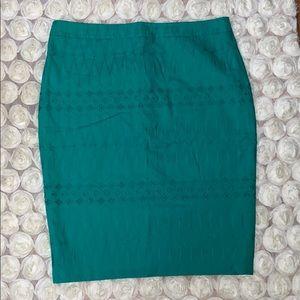 LOFT Eyelet Pencil Skirt